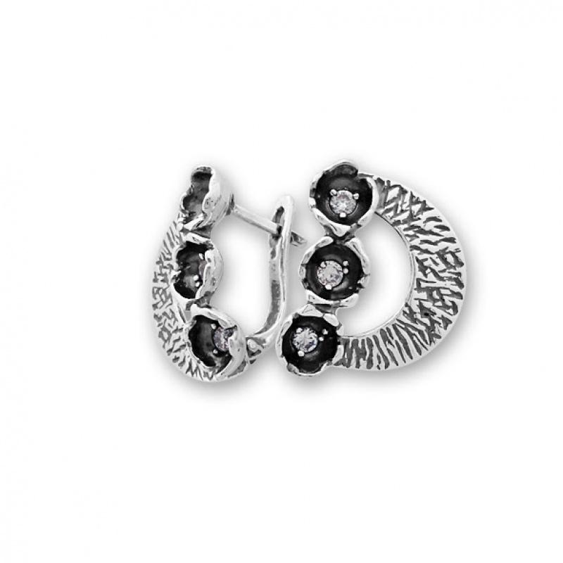 Samantta - Сребърна обеци с Циркони 137011-Сребърни бижута