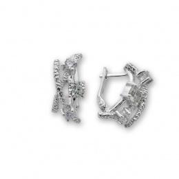Kristela - Сребърни обеци с Циркони 137020-Сребърни бижута