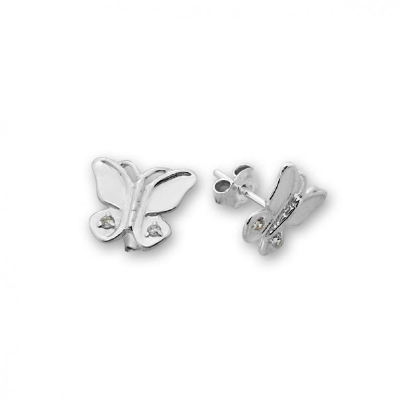 Alienor - Сребърни обеци с Циркони 139585-Сребърни бижута