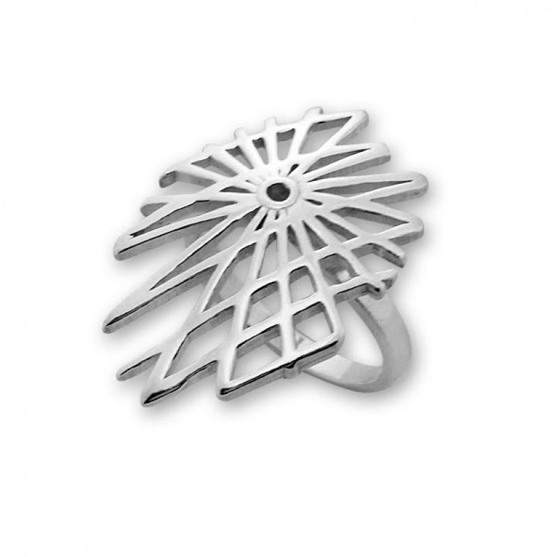 Cadice - Сребърен пръстен без Камък 1546010-Сребърни бижута