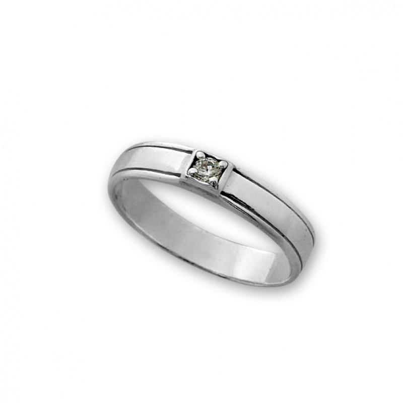 Lourdes - Сребърен пръстен с Циркон 1605251-Сребърни бижута