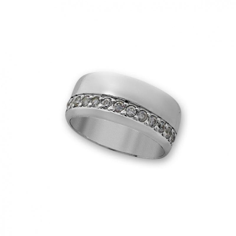 Benjamine - Сребърен пръстен с Циркони 1615250-Сребърни бижута