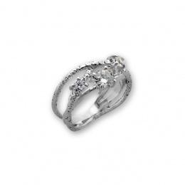 Kristela -Сребърен пръстен с Циркони 1626020-Сребърни бижута