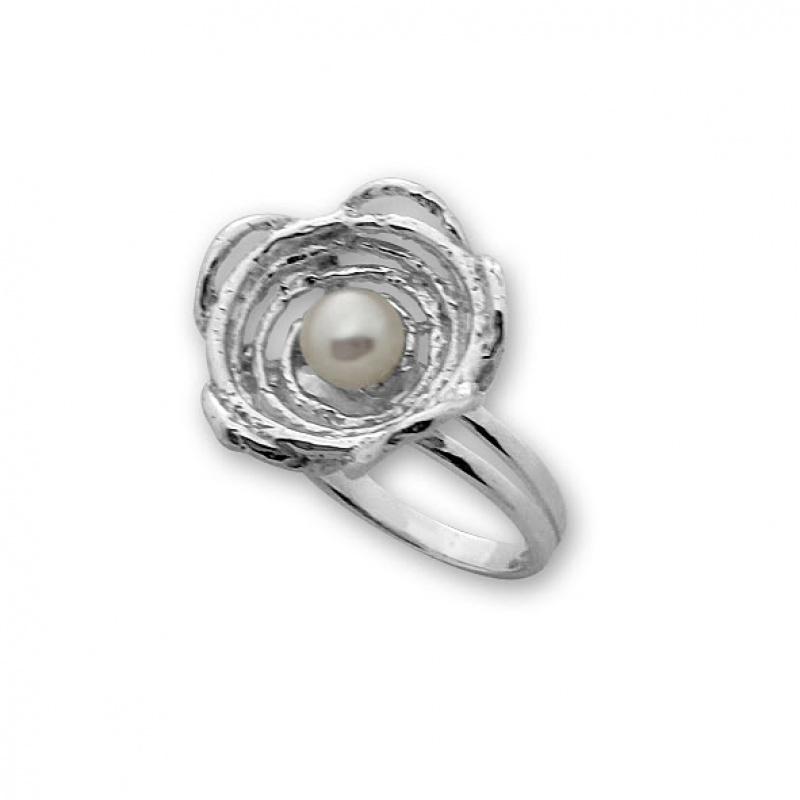 Igerne - Сребърен пръстен с Перла 3 - 4 мм А 1706019-Пръстени