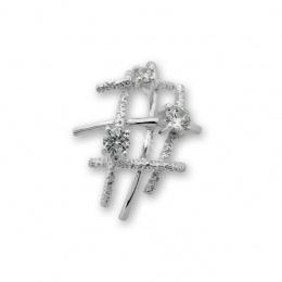 Kristela - Сребърна висулка с Циркони 174020-Сребърни бижута