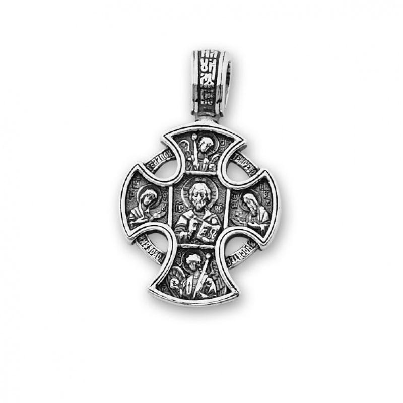 Gwenaelle - Сребърна висулка Кръст без Камъни 177580-Сребърни бижута