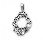Valensia - Сребърен комплект от четири части без Камъни - Обеци, Висулка, Пръстен и Гривна 8000021-Сребърни бижута