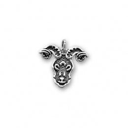 Oven - Сребърна висулка Овен без Камък 181562-Сребърни бижута