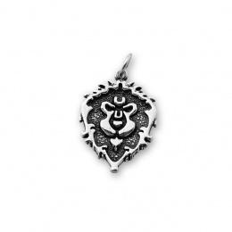 Luv - Сребърна висулка Лъв без Камък 181566-Сребърни бижута