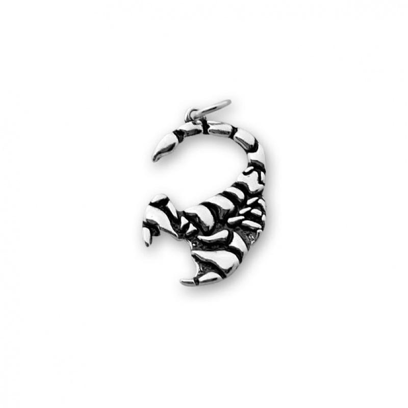 Scorpion - Сребърна висулка Скорпион без Камък 181569-Сребърни бижута