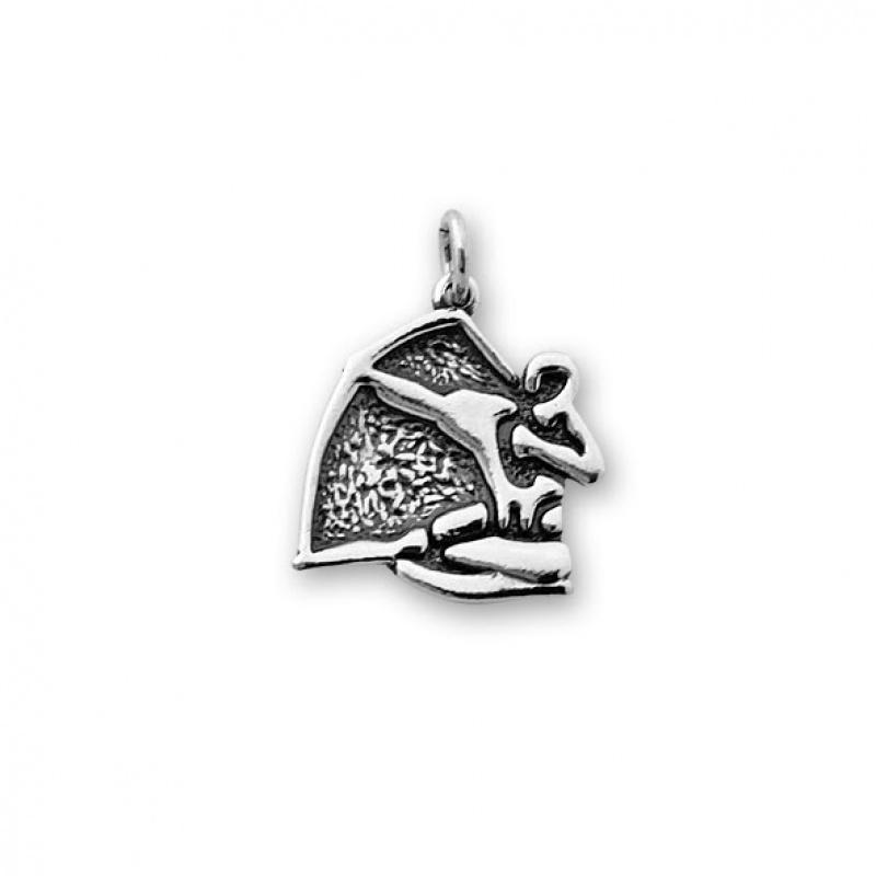 Strelec - Сребърна висулка Стрелец без Камък 181570-Сребърни бижута