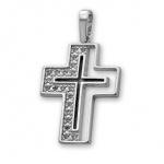Levoaa - Сребърна висулка Кръст с Циркони 183581-Сребърни бижута