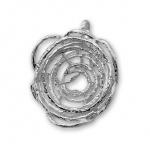 Fantine - Сребърен комплект от три части без Камъни - Обеци, Висулка и Пръстен  8000017-Сребърни бижута