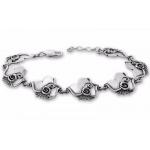 Kremena - Сребърен комплект от четири части без Камъни - Обеци, Висулка, Пръстен и Гривна  8000005-Сребърни бижута