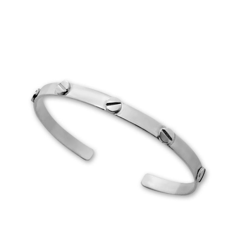 Luchere - Твърда сребърна гривна без Камък 200016-Сребърни бижута