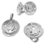 Flo - Сребърен комплект от три части без Камъни - Обеци, Висулка и Пръстен 8000013-Сребърни бижута