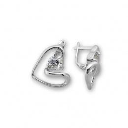 Mercia - Сребърни обеци с Циркон 121046-Сребърни бижута