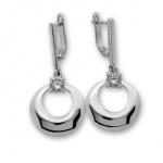 Mell - Сребърни обеци с Циркон 122612-Сребърни бижута