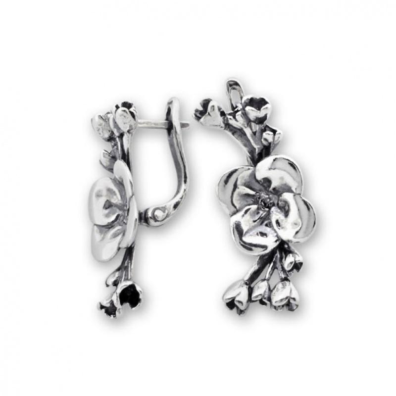 Jess - Сребърни обеци без Камък 132049-Сребърни бижута