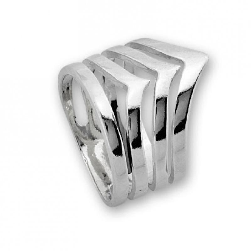 Loly - Сребърен пръстен без Камък 1535269-Сребърни бижута