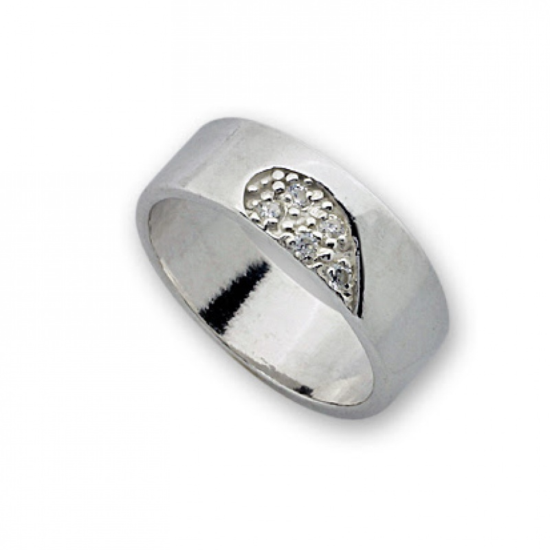 Jeyn - Сребърен пръстен с Циркони 1585267-Сребърни бижута