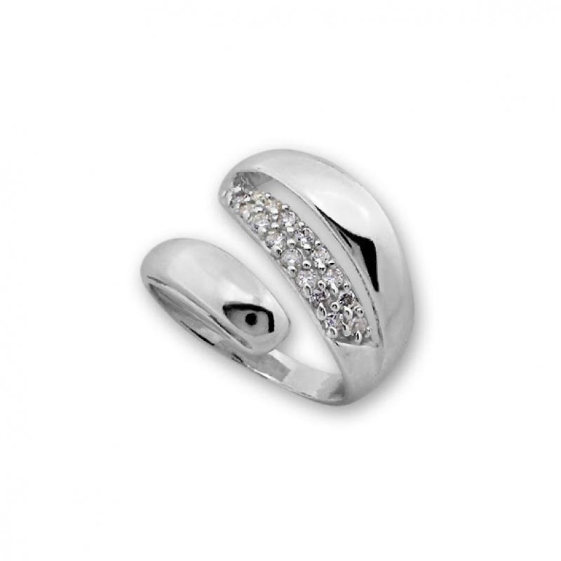 Lolicia - Сребърен пръстен с Циркони 1615262-Сребърни бижута