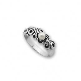 Micheal - Сребърен пръстен с Перла 1706042-Пръстени