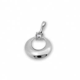 Mell - Сребърна висулка с Циркон 184612-Сребърни бижута