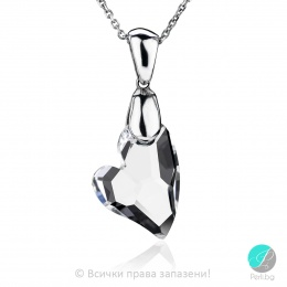 Andra - Сребърно колие сърце с кристал Swarovski 17 мм 62611139-Кристали
