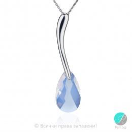 Elinora - Сребърно колие с кристал Swarovski Opal 22 мм 610621303-Кристали