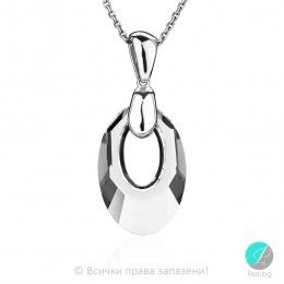 Lucienne - Сребърно колие с кристал Swarovski 20 мм 60401439-Кристали