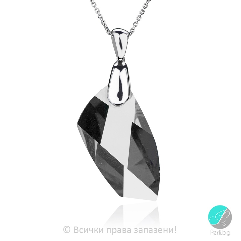 Liane - Сребърно колие с кристал Swarovski 30 мм 66201238-Кристали
