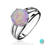 Kalla - Сребърен пръстен с Розов Опал S1904-Естествени камъни