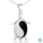 Letie - Сребърна висулка Костенурка с Оникс 477892544-Естествени камъни