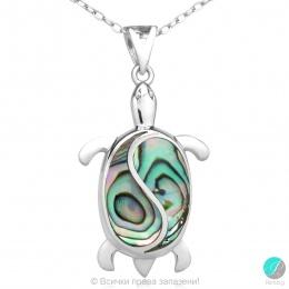 Letie - Сребърна висулка Костенурка със Седеф 477892544S-Естествени камъни