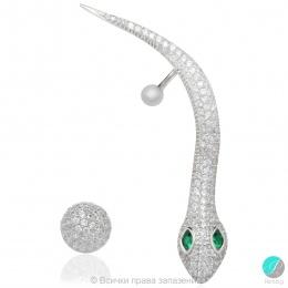 Mazy - Сребърни обеци с Циркони 5370112424