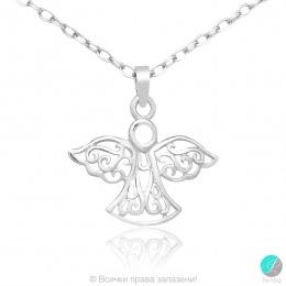 Angel 2 - Сребърна висулка Ангелче 5470620626