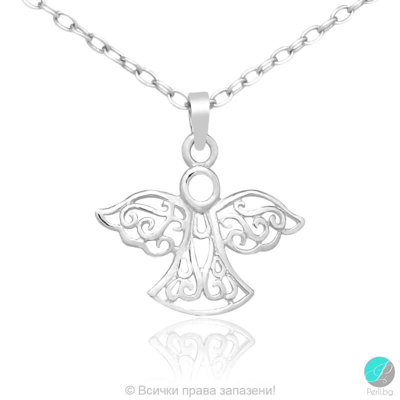 Angel 2 - Сребърна висулка Ангелче 5470620626-Сребърни бижута