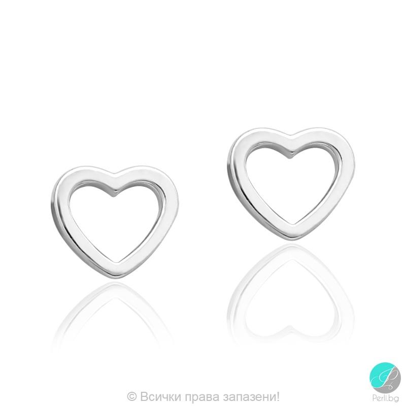 Letia - Сребърни обеци Сърчица 5470622540-Сребърни бижута