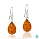 Arlette - Сребърни обеци с Кехлибар 56765373-Естествени камъни