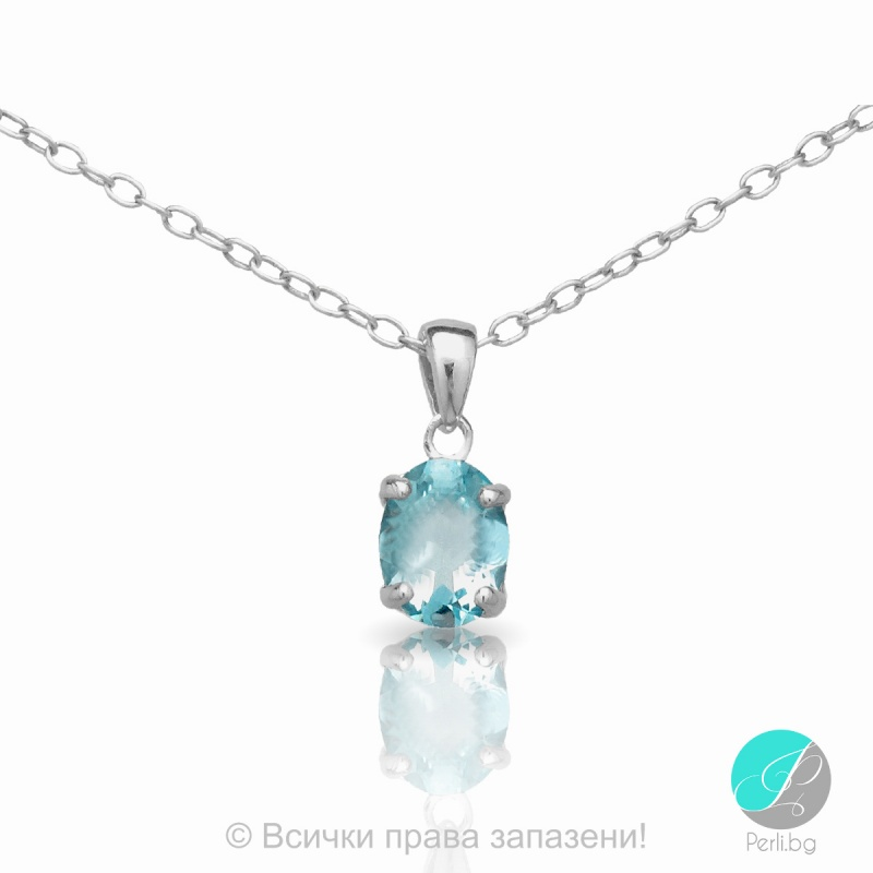 Еvonne - Сребърна висулка със Син Топаз 13811811580B-Естествени камъни