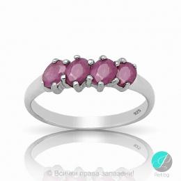 Reenie - Сребърен пръстен с Рубин 11812310R-Естествени камъни