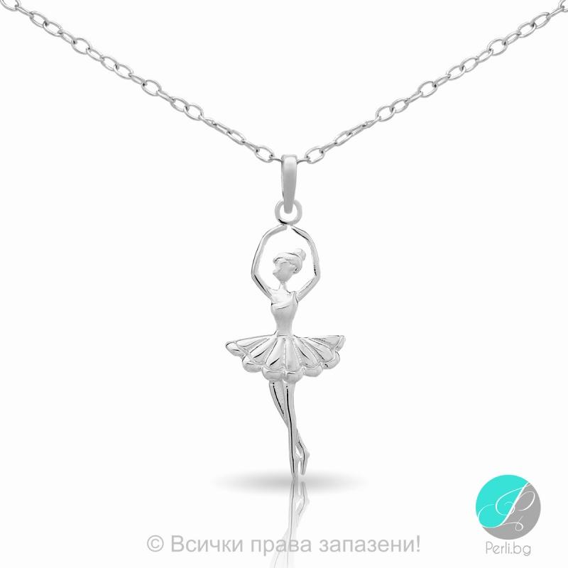 "Ballerina - Сребърна висулка ""Балерина"" 171063855-Сребърни бижута"