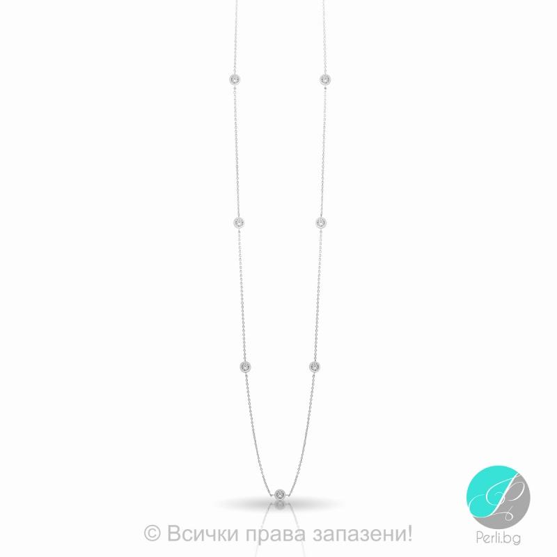 Renie - Сребърно колие с Циркони 5370114489-Сребърни бижута