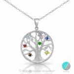 Brandi - Сребърна висулка Дървото на живота с Циркони 70115699-Сребърни бижута