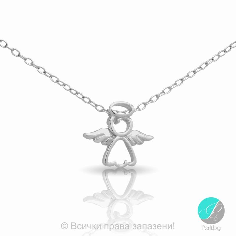 Angel - Сребърна висулка Ангелче 5470613798-Сребърни бижута