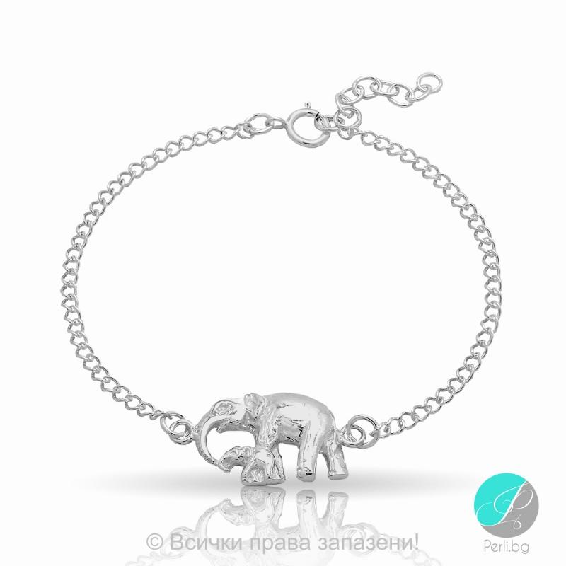 Еlephant - Сребърна гривна Слонче 5470619958-Сребърни бижута