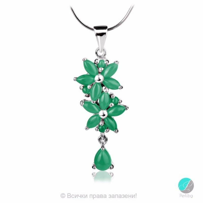 Mistyk - Сребърна висулка със зелен Авантюрин 13811812093G-Естествени камъни