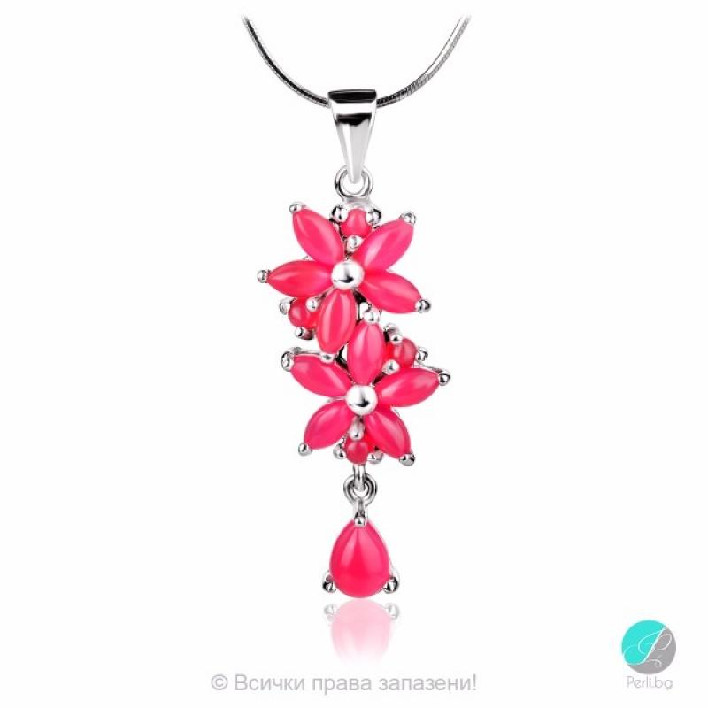 Mistyk - Сребърна висулка с розов  Авантюрин 13811812093P-Естествени камъни