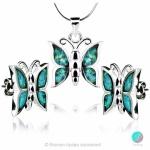 Deana - Сребърен комплект - Висулка и обеци с Опал 1891479342C-Естествени камъни